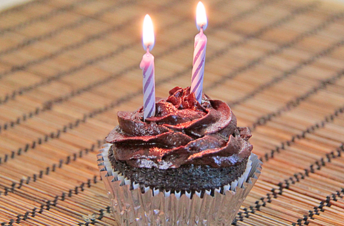 Wondrous Happy 2Nd Birthday Be Mindful Be Human Chocolate Cupcakes With Funny Birthday Cards Online Eattedamsfinfo